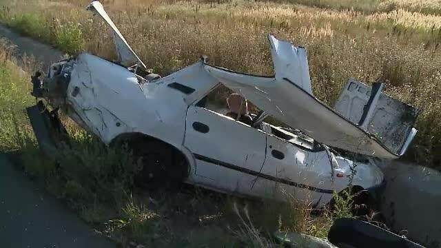Un sofer de 70 de ani a murit, la intrarea in Arad. Masina sa a zburat pur si simplu peste un sens giratoriu inalt de 1 metru