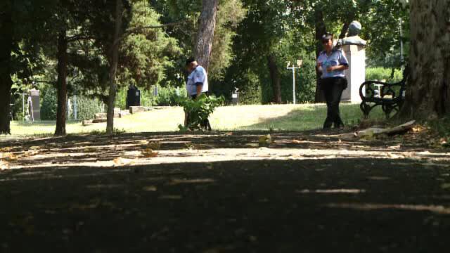 politisti in parc in Timisoara