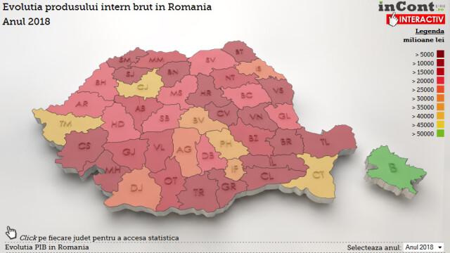 INFOGRAFIC INTERACTIV: Judetul care in 2018 va fi de 33 de ori mai sarac decat Bucurestiul