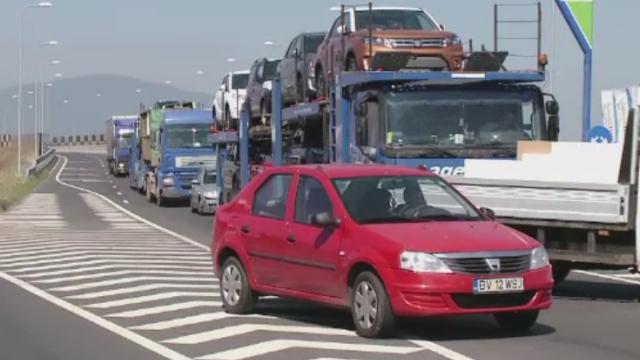 Protest spontan al transportatorilor la Brasov. Soferii sunt nemultumiti de valoarea tot mai mare a RCA-ului