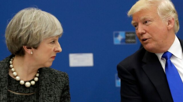Donal Trump si Theresa May