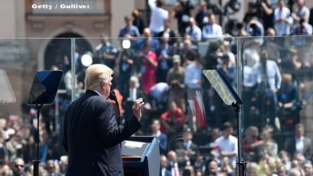 Discursul lui Donald Trump in Varsovia. I-a laudat pe polonezi si lansat acuzatii dure catre Rusia. Reactia Kremlinului - Imaginea 5
