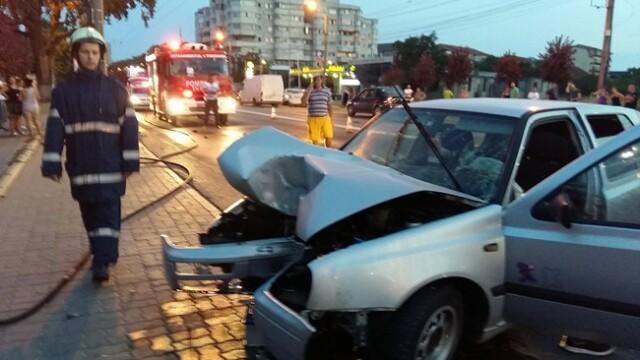 Accident soldat cu patru victime in Timisoara. Gluma pe care a vrut s-o faca soferul la volan. VIDEO