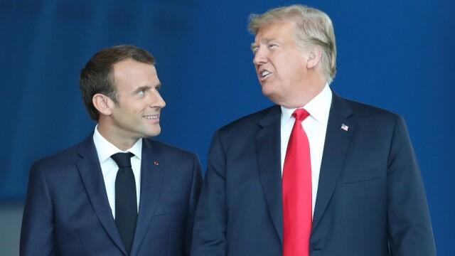 Trump l-a asigurat pe Macron că nu există o ruptură între SUA şi Europa