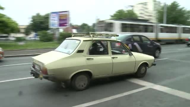 Dacie in trafic in Bucuresti