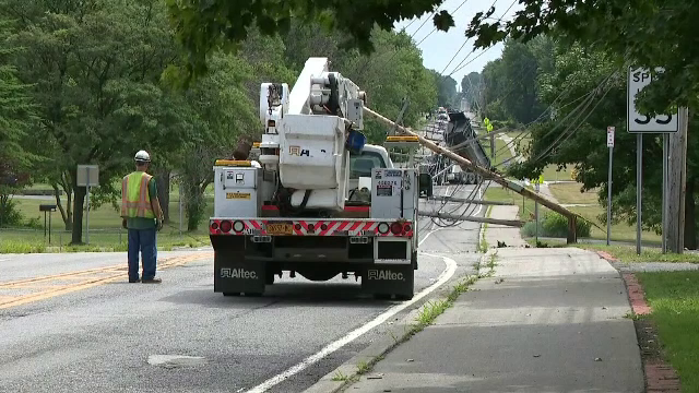 Șoferul unui camion de gunoi a făcut prăpăd. A rupt 15 stâlpi