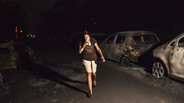 """Cadavre carbonizate găsite îmbrățișate în infernul din Grecia. """"Flăcările ne ardeau spatele"""""""