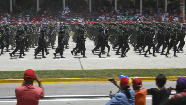 Paradă militară impresionantă organizată de Maduro în Venezuela - Imaginea 1