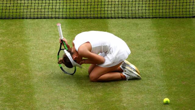 Primele imagini cu Simona Halep cu trofeul de la Wimbledon. GALERIE FOTO - Imaginea 8