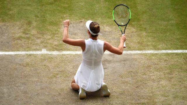 Primele imagini cu Simona Halep cu trofeul de la Wimbledon. GALERIE FOTO - Imaginea 5