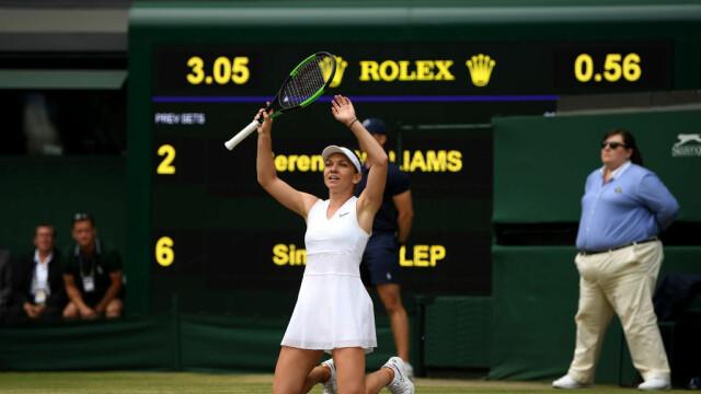 Primele imagini cu Simona Halep cu trofeul de la Wimbledon. GALERIE FOTO - Imaginea 2