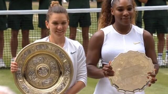 Primele imagini cu Simona Halep cu trofeul de la Wimbledon. GALERIE FOTO - Imaginea 11