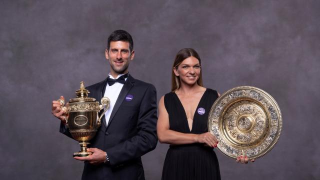 Cum a apărut Simona Halep alături de Novak Djokovic la Balul Campionilor de la Wimbledon - Imaginea 2