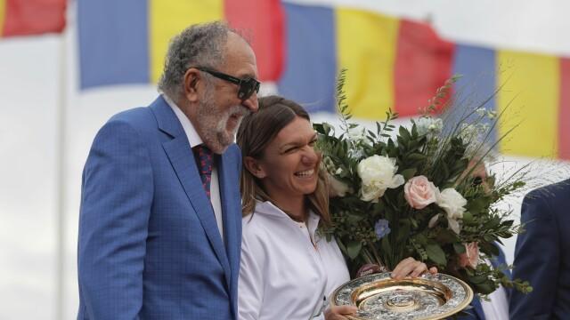 Simona Halep si Ion Tiriac
