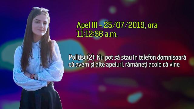 """Stenogramă: Alexandra s-a înfruntat și cu criminalul, și cu operatorii 112: """"Domnișoară, avem și alte apeluri\"""