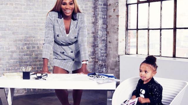 Cea mai tare echipă. Imaginile cu Serena Williams și fiica ei pe terenul de tenis i-au emoționat pe toți - Imaginea 2