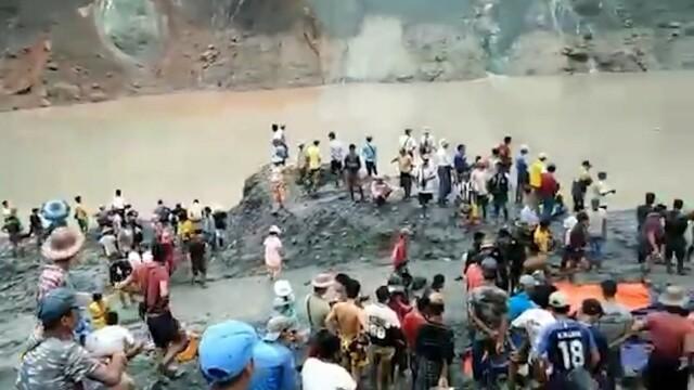 Momentul în care s-a prăbușit mina de jad din Myanmar. Cel puțin 162 de oameni au murit - Imaginea 2
