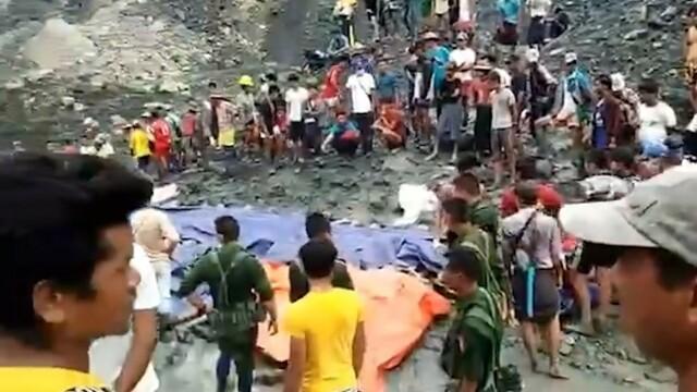 Momentul în care s-a prăbușit mina de jad din Myanmar. Cel puțin 162 de oameni au murit - Imaginea 5