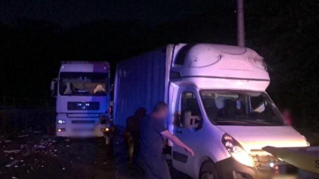 Accident cu trei mașini în Azuga