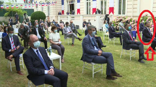 Ciolacu a fost singurul politician fără mască la recepția organizată la Ambasada Franței - Imaginea 3