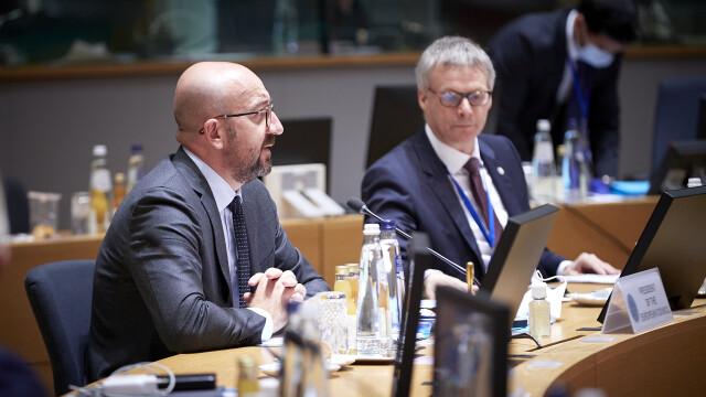 Iohannis, fotografiat fără mască la summit-ul UE. Explicațiile Administrației Prezidențiale - Imaginea 5