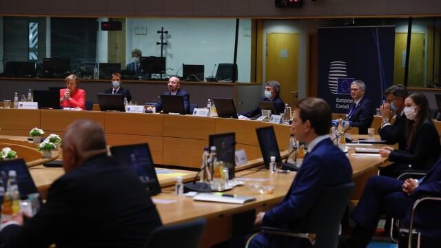 Iohannis, fotografiat fără mască la summit-ul UE. Explicațiile Administrației Prezidențiale - Imaginea 10
