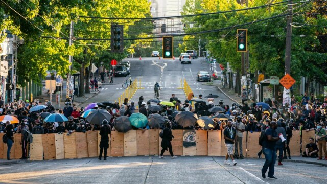 Protest în Seattle
