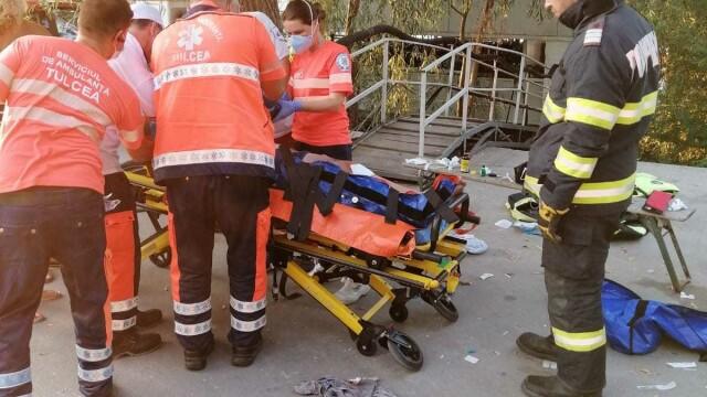 VIDEO. Accident naval la Murighiol, cu 13 persoane implicate. A fost activat Planul Roșu de intervenție - Imaginea 4