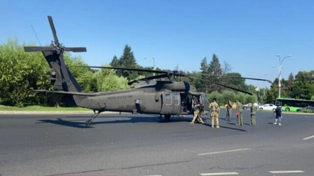 """""""Black Hawk Down"""" în București. Elicopter militar american, aterizat forțat: """"Puteam să asistăm la o tragedie"""" - Imaginea 4"""