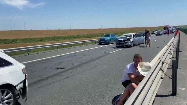 Încă un accident rutier s-a petrecut pe A2, pe sensul Constanța-București. VIDEO - Imaginea 1