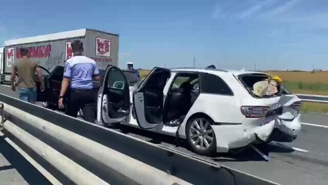 Încă un accident rutier s-a petrecut pe A2, pe sensul Constanța-București. VIDEO - Imaginea 2