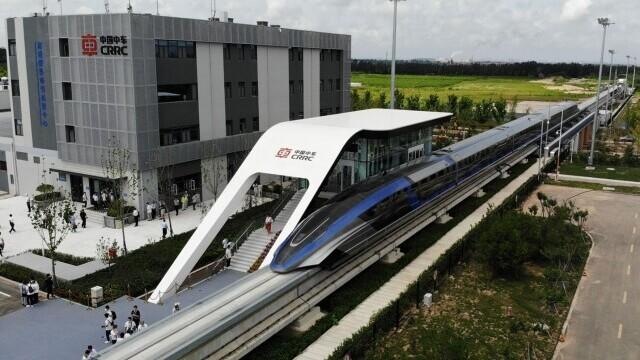 China a prezentat un tren care merge cu 600 km/h VIDEO & FOTO - Imaginea 2