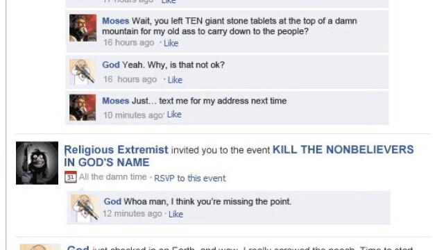 Ce si cu cine ar discuta Dumnezeu, daca ar avea cont pe Facebook - Imaginea 2
