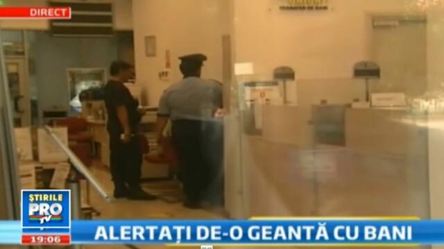 VIDEO: S-au speriat de bani. Geanta care a alarmat o banca din Bucuresti