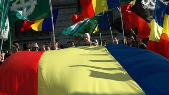 Protest al organizatiei Noua Dreapta fata de intemeierea Tinutului Secuiesc in 2008