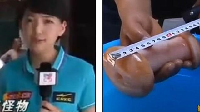 VIDEO. Gafa colosala a unei reportere. Cu ce a confundat o jucarie sexuala