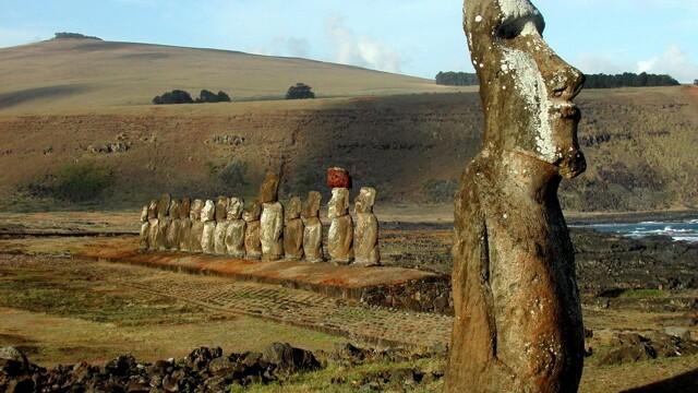 Studiu: Cum au ajuns celebrele statui gigant Moai pe Insula Pastelui