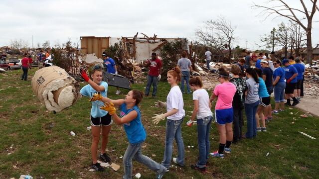 ruine, case distruse de tornada, SUA, Oklahoma - 2