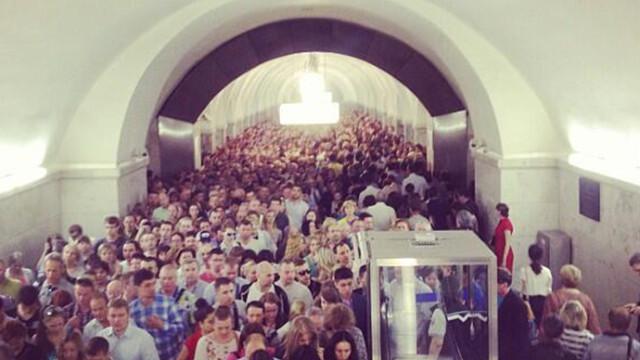 Incendiu la metroul din Moscova. Russia Today: 31 raniti si 4500 de persoane evacuate