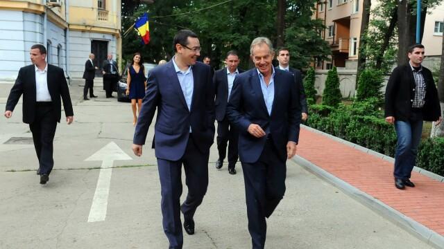 Tony Blair, vizita neanuntata la Bucuresti. Fostul premier britanic s-a intalnit cu Victor Ponta
