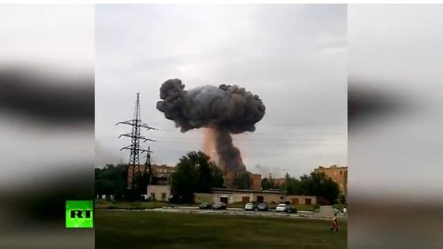 Explozie intr-un depozit de munitie din Rusia