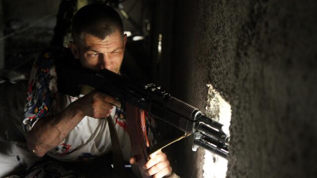 Criza in Ucraina. Criza in Ucraina. Aviatia ucraineana a bombardat centrul orasului Luhansk, controlat de separatisti. VIDEO