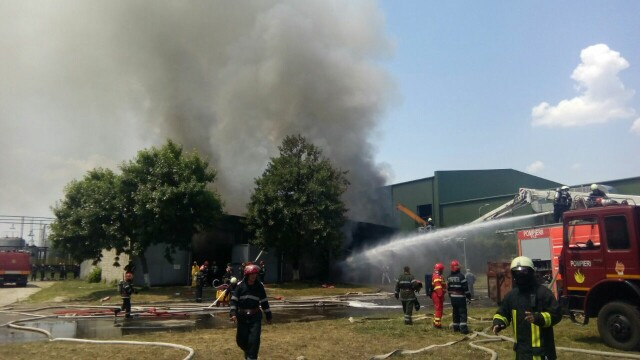 Incendiu la un depozit de produse chimice din Bucuresti. A fost nevoie de 25 de masini de pompieri ca sa il stinga - Imaginea 2