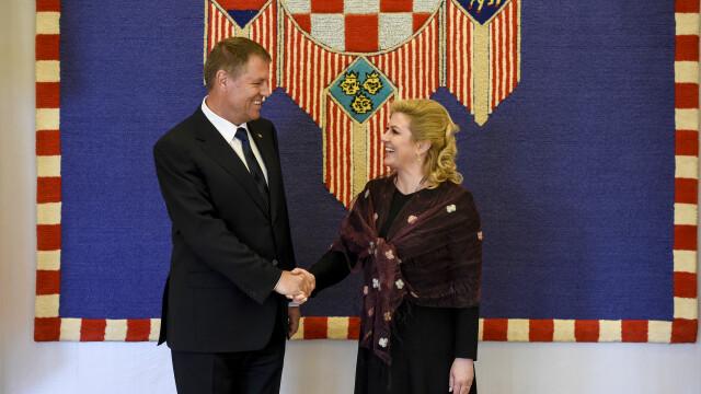 Klaus Iohannis vizita in Croatia - Agerpres