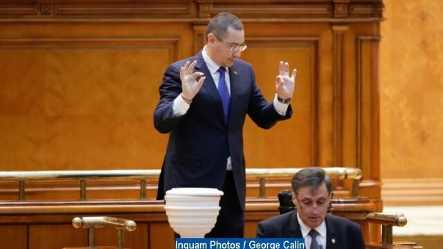 """Ponta, despre moțiunea de cenzură: """"Nu dăm jos guvernul PSD să îl înlocuim cu un guvern PNL"""""""