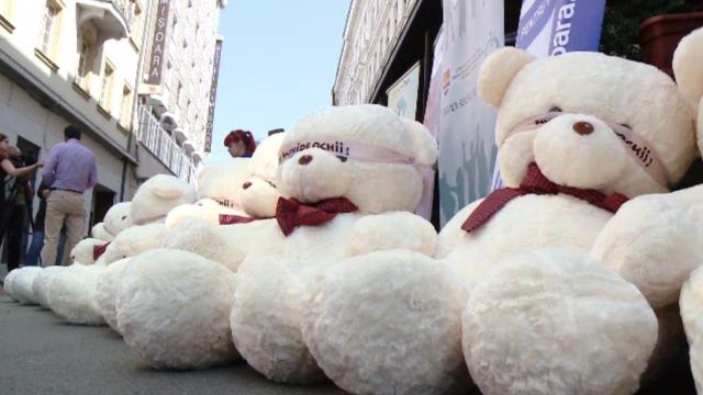 Campanie împotriva abuzurilor asupra minorilor, în Timiș. Câte un ursuleț de pluș pentru fiecare copil abuzat