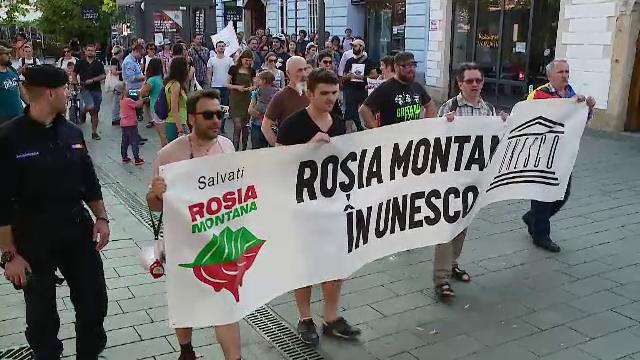 protest Roția Montană