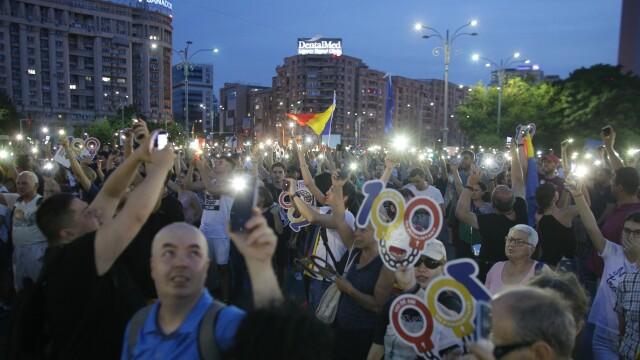 Cele două Românii. GALERIE FOTO cu protestele din weekend: PSD contra #rezist - Imaginea 13
