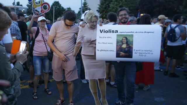 Cele două Românii. GALERIE FOTO cu protestele din weekend: PSD contra #rezist - Imaginea 14