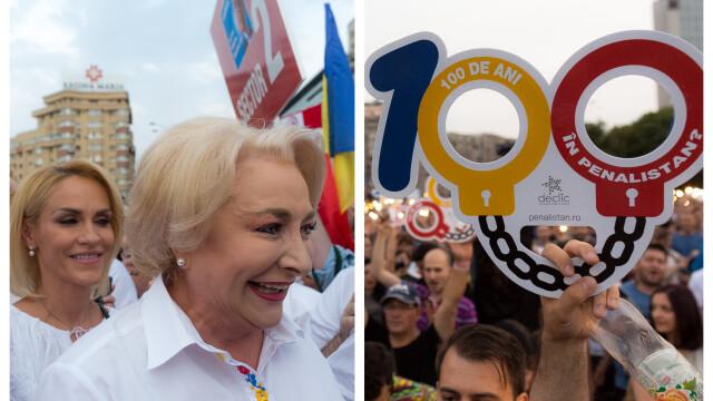 Cele două Românii. GALERIE FOTO cu protestele din weekend: PSD contra #rezist - Imaginea 21